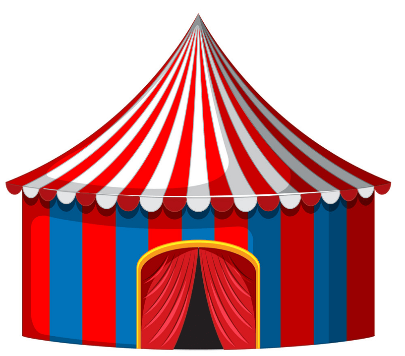 Circus Tent clipart png free