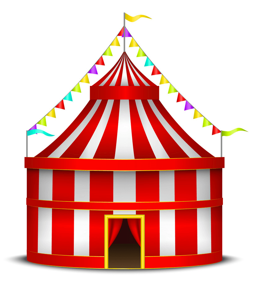 Circus Tent clipart png image