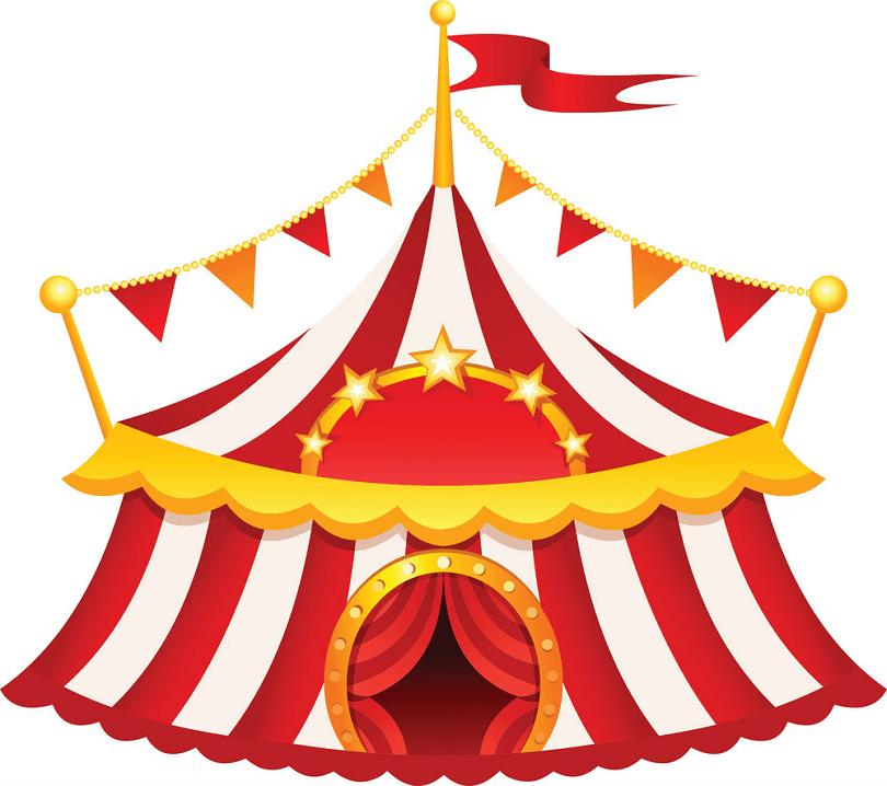 Circus Tent clipart png