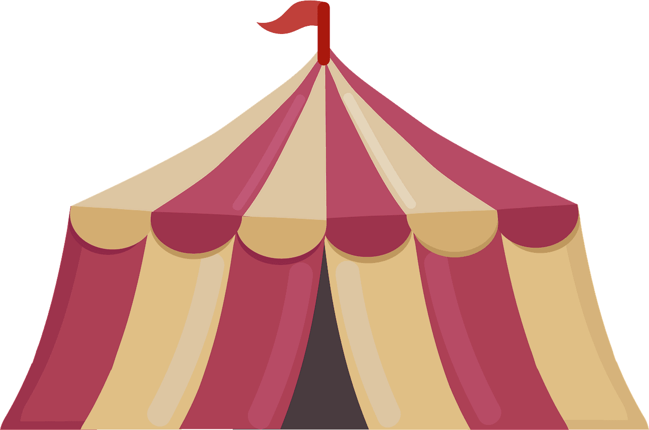 Circus Tent clipart transparent 3