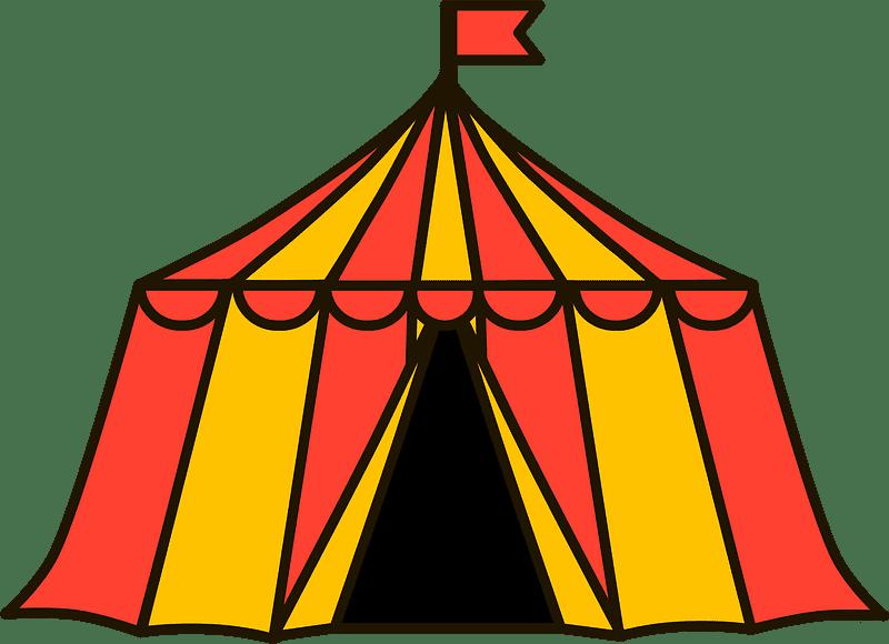 Circus Tent clipart transparent 7