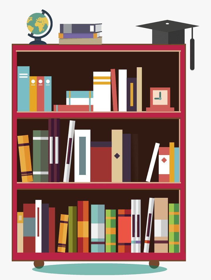 Clipart Bookshelf 3