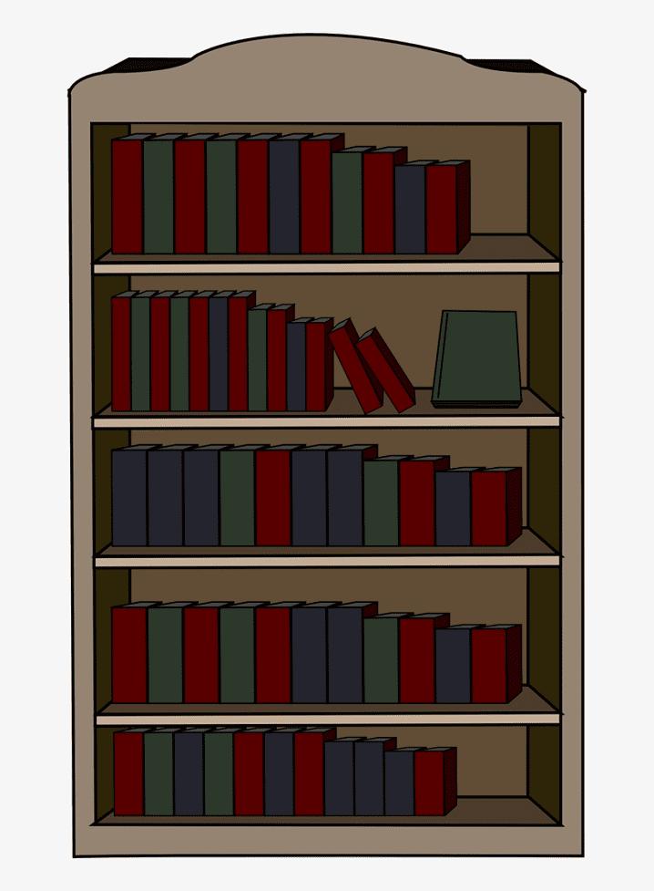 Clipart Bookshelf 5