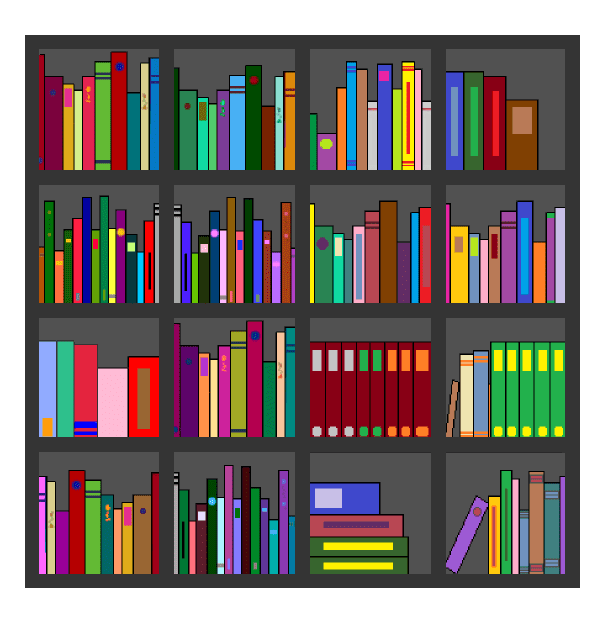 Clipart Bookshelf 7