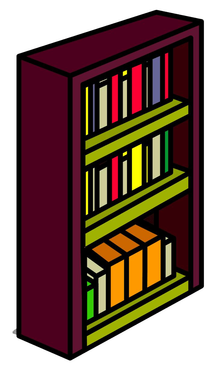 Clipart Bookshelf