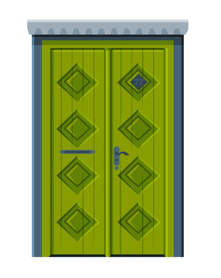 Close Door clipart png free
