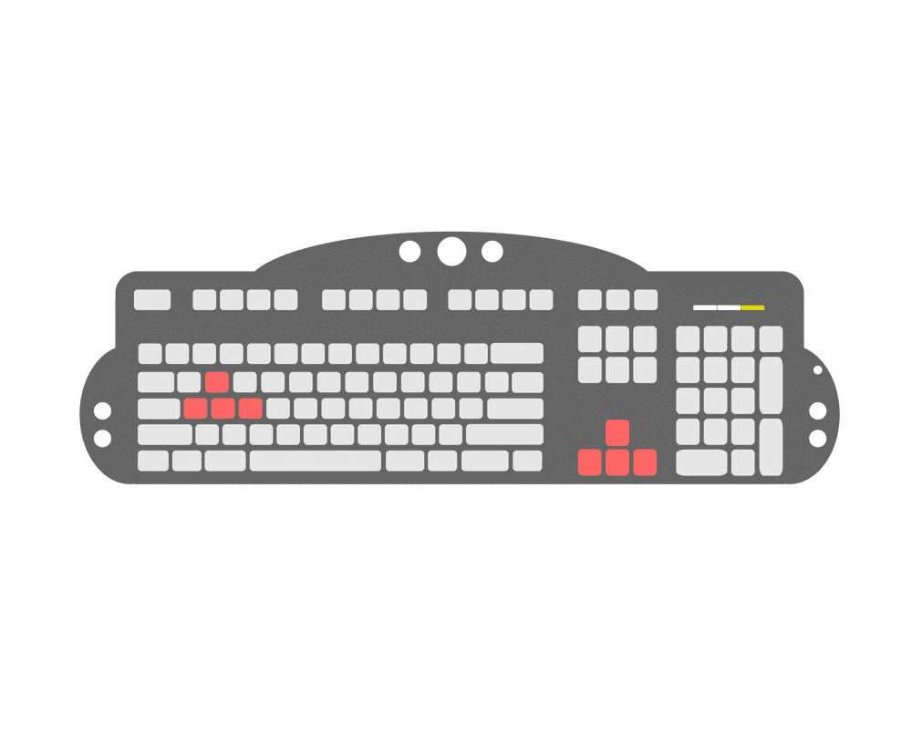 Computer Keyboard clipart free images