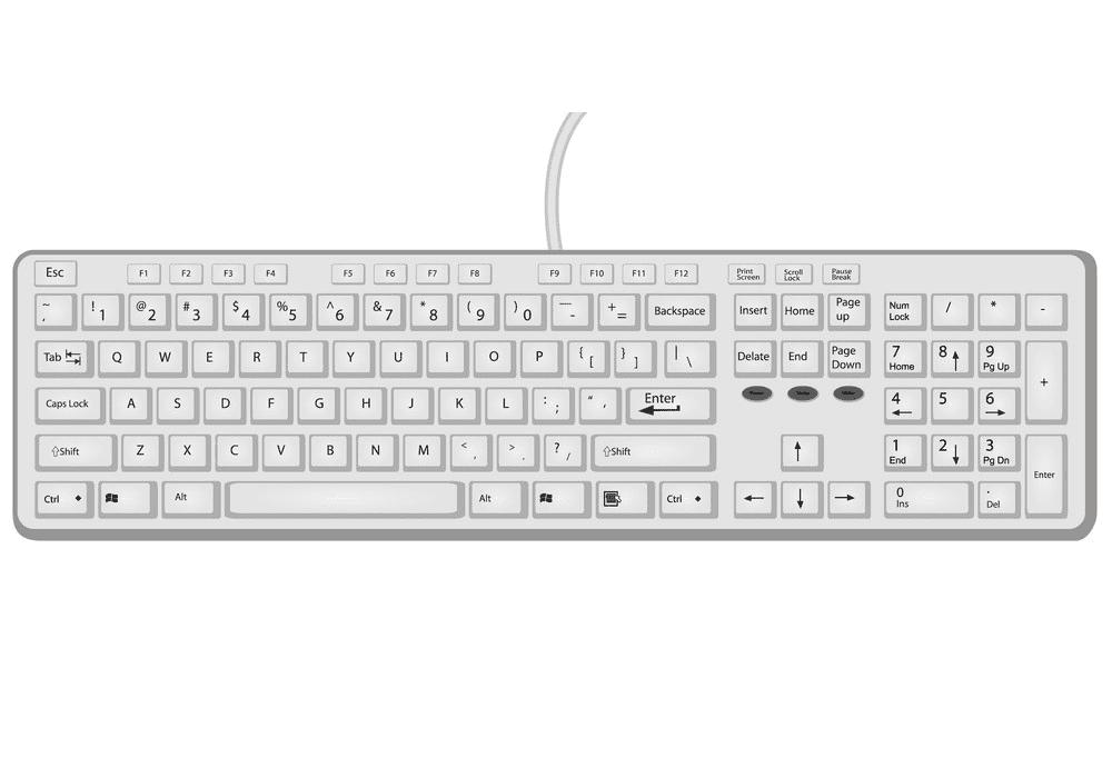 Computer Keyboard clipart image