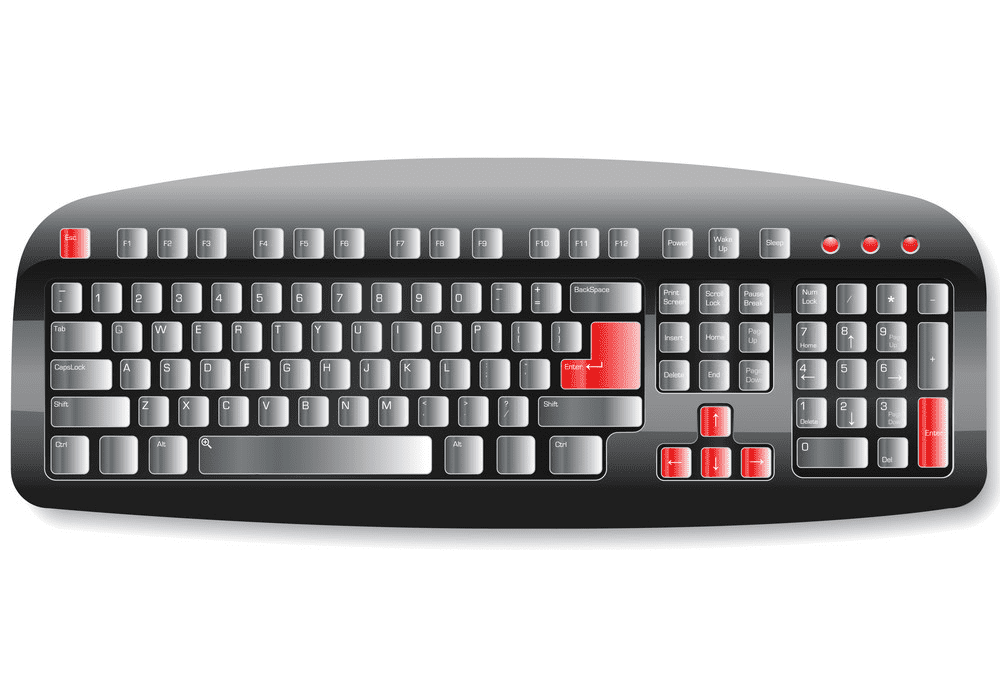 Computer Keyboard clipart images