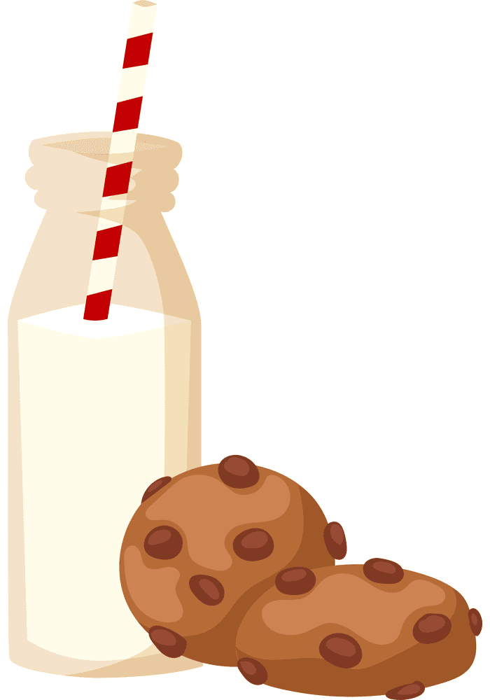 Cookies and Milk clipart for free