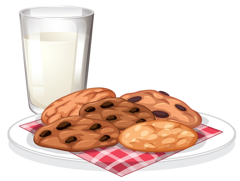 Cookies and Milk clipart free