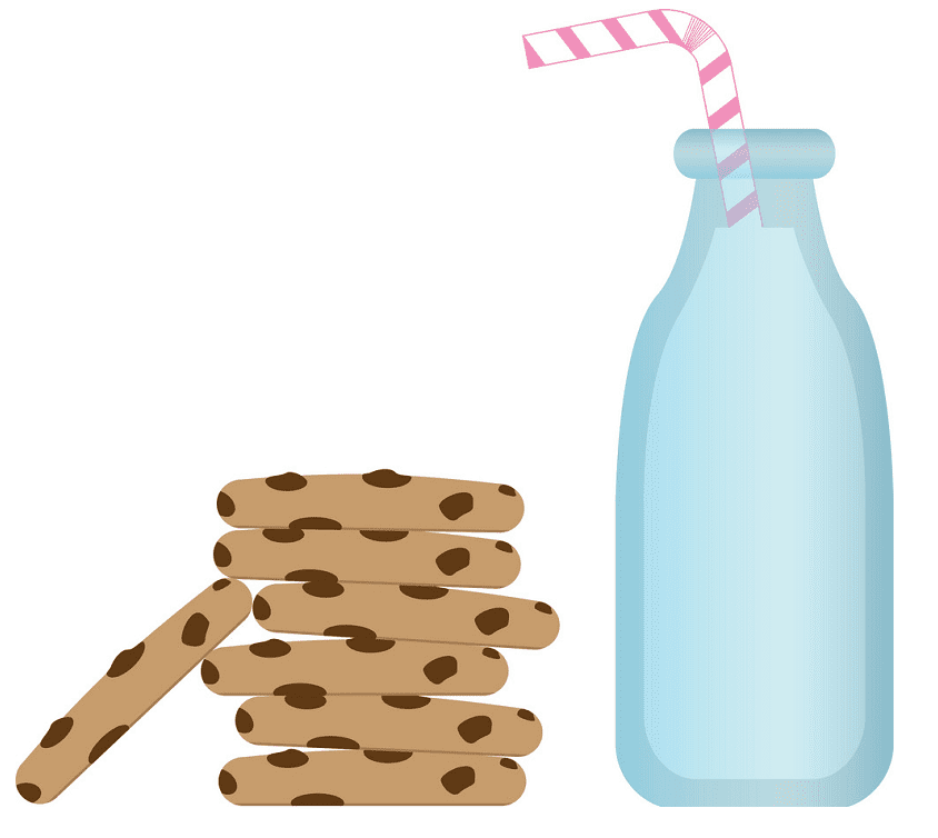 Cookies and Milk clipart png free