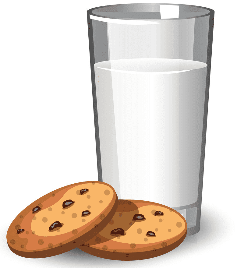 Cookies and Milk clipart png