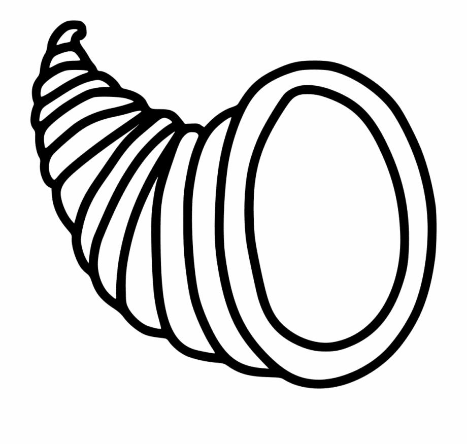 Cornucopia Clipart Black and White 5
