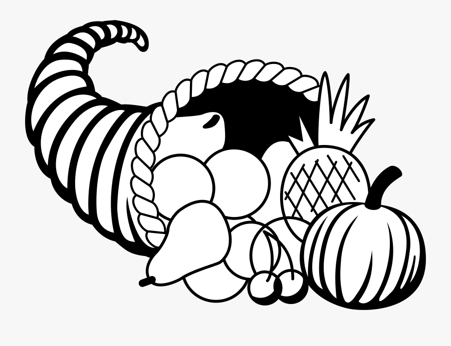 Cornucopia Clipart Black and White png images