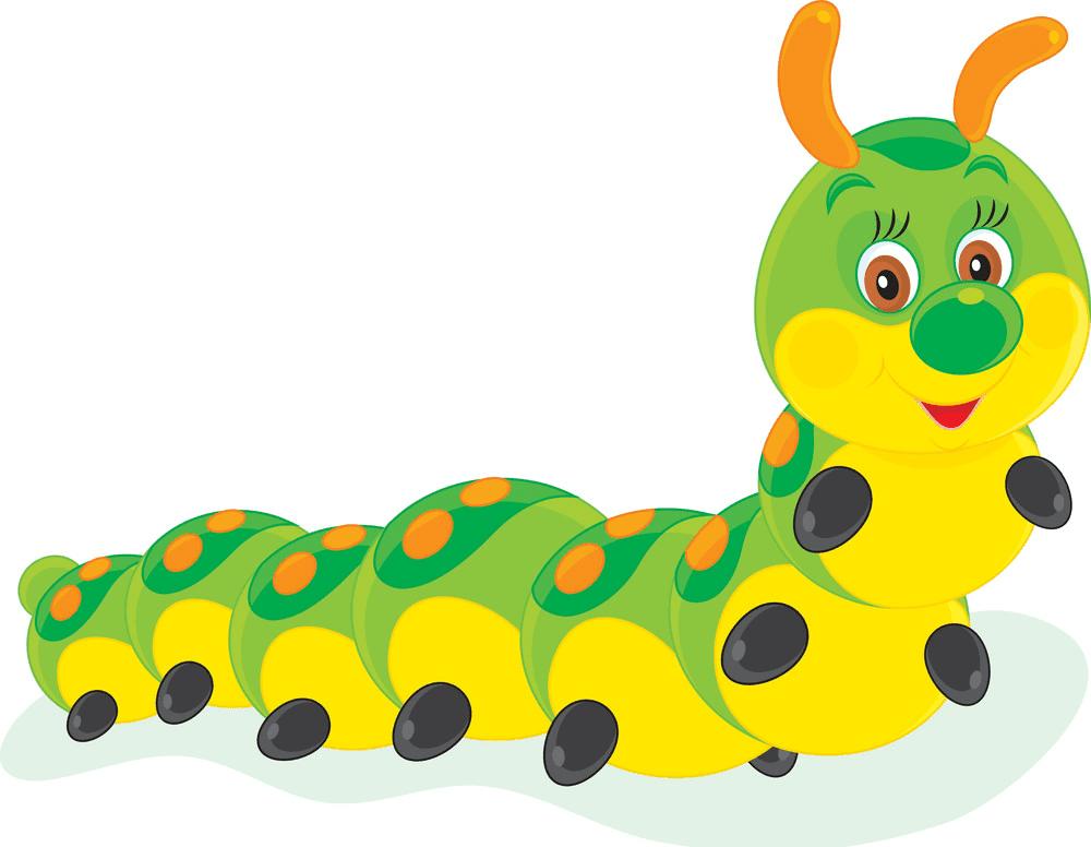 Cute Caterpillar clipart free image