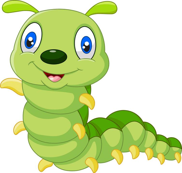 Cute Caterpillar clipart free