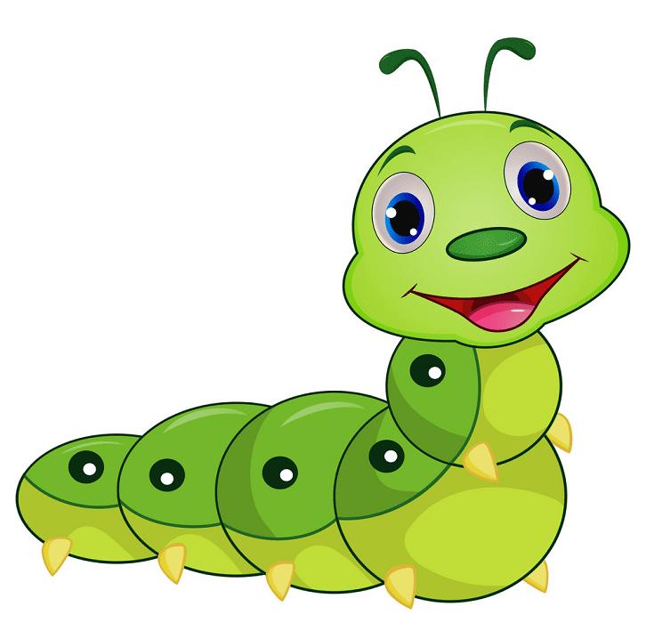 Cute Caterpillar clipart