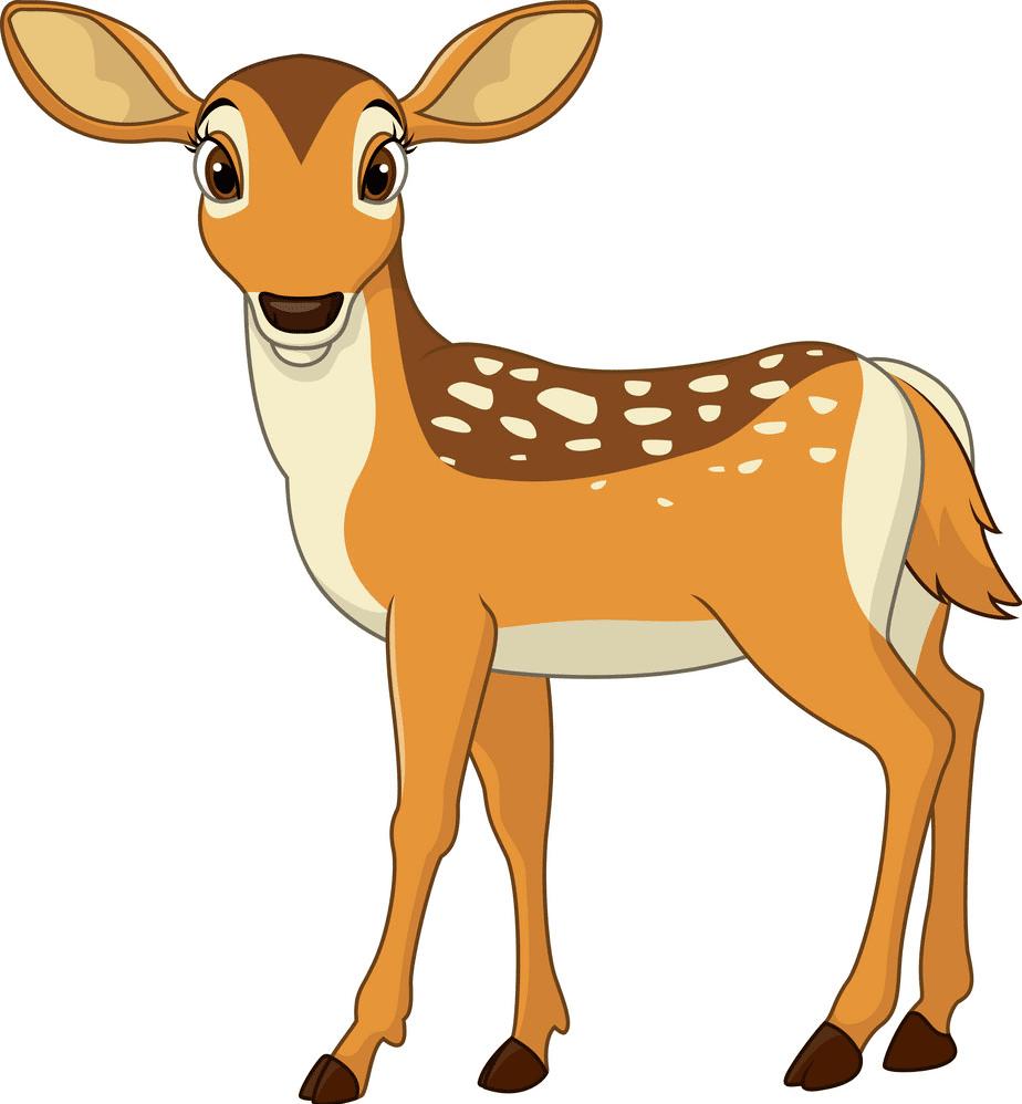 Cute Deer clipart png free