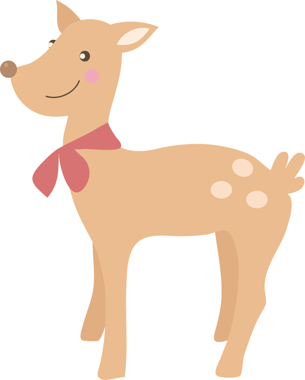 Cute Deer clipart transparent background