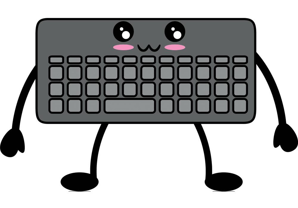 Cute Keyboard clipart