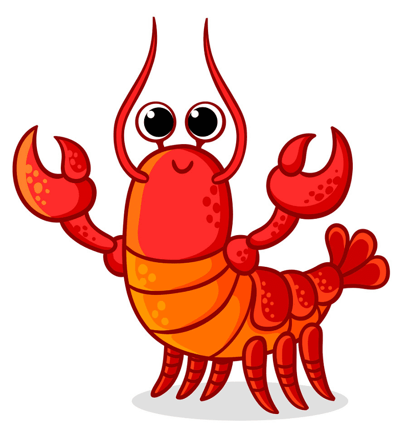 Cute Lobster clipart free image