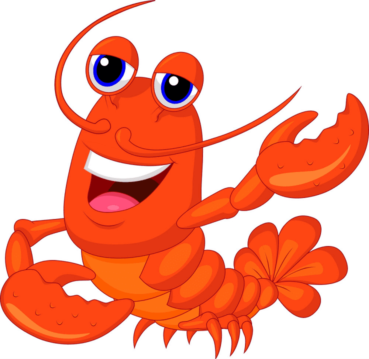 Cute Lobster clipart image