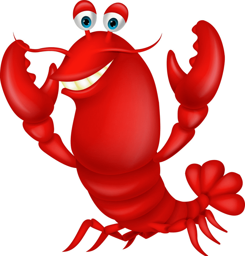 Cute Lobster clipart png free