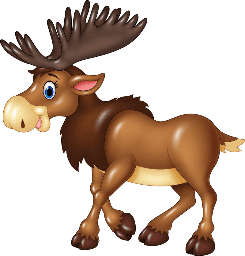 Cute Moose clipart for free