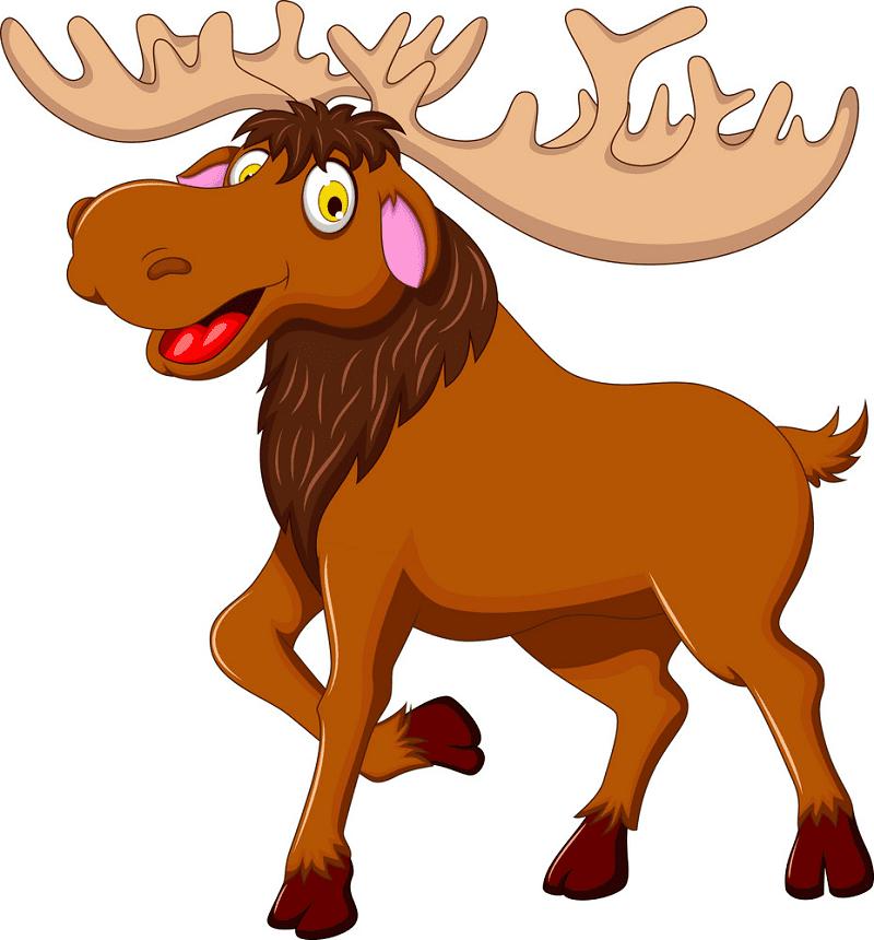 Cute Moose clipart free