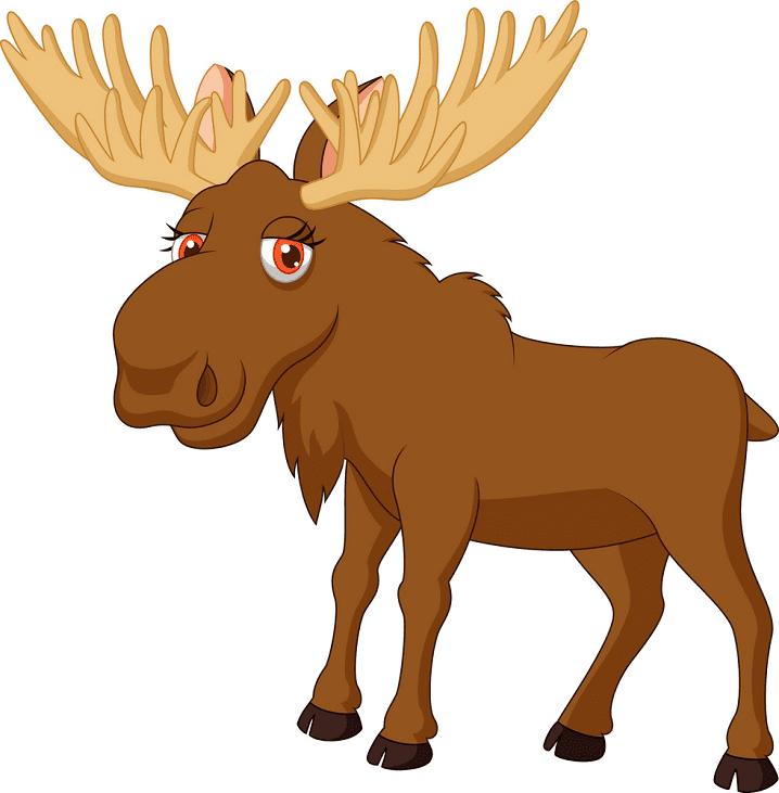 Cute Moose clipart