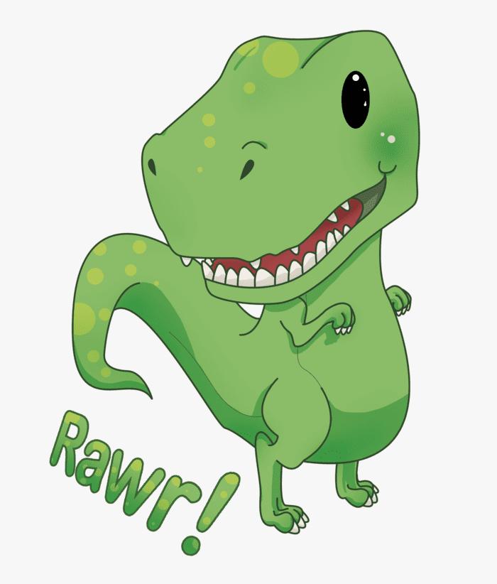 Cute T-Rex clipart 3