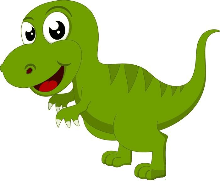 Cute T-Rex clipart 7