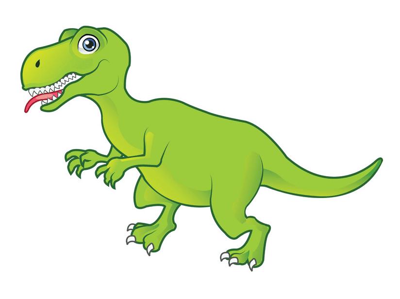 Cute T-Rex clipart free 2