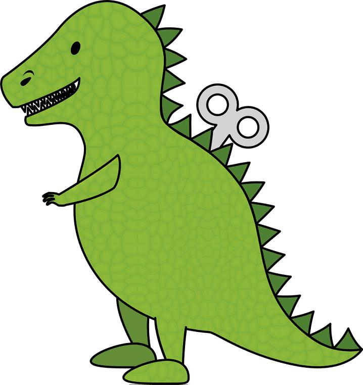 Cute T-Rex clipart free 3