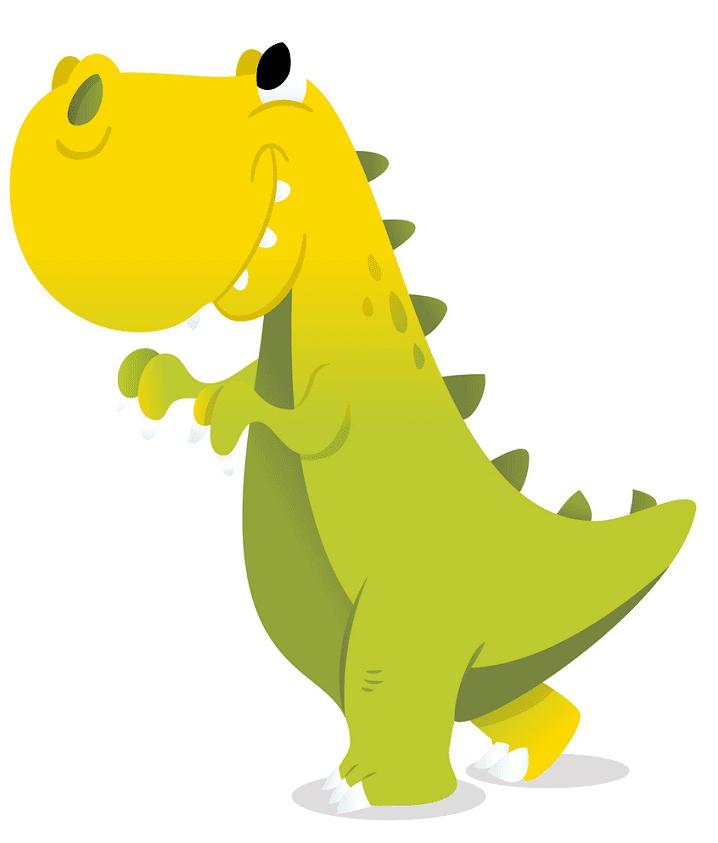 Cute T-Rex clipart free 4