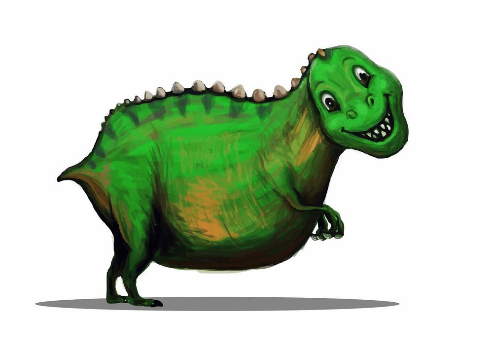 Cute T-Rex clipart free 5