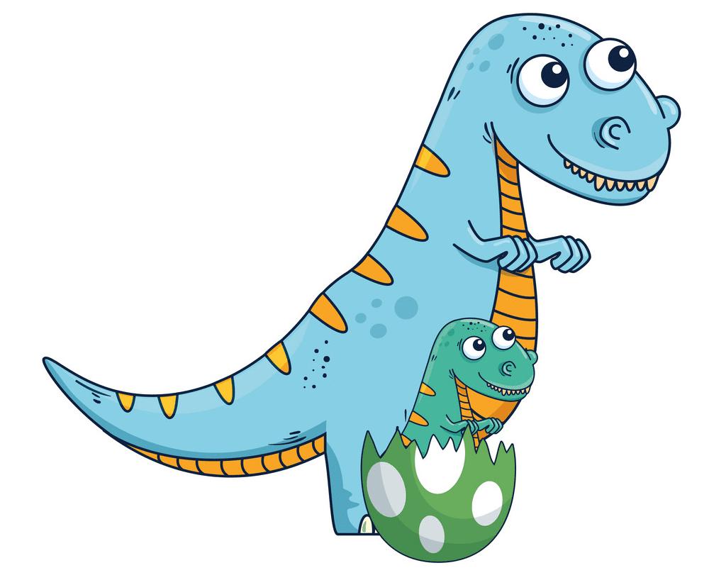 Cute T-Rex clipart free 6