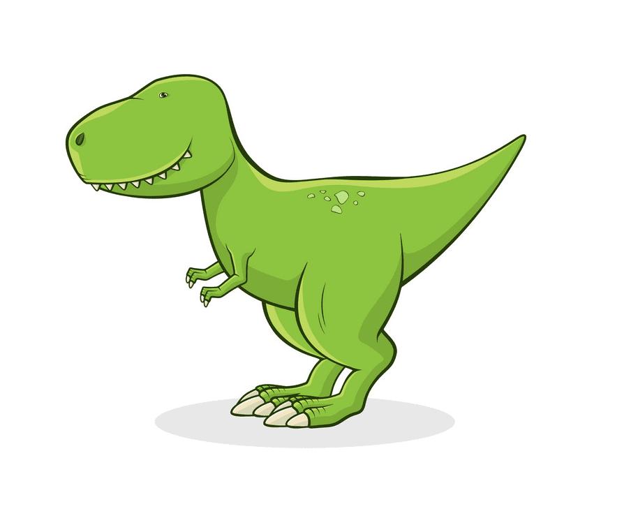Cute T-Rex clipart free 7