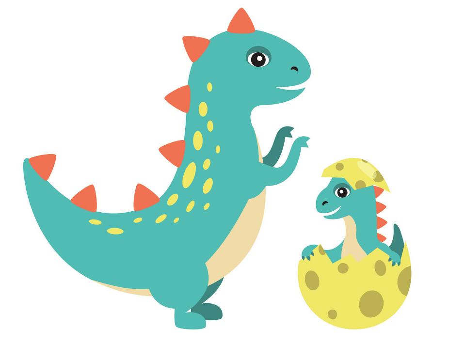 Cute T-Rex clipart free 8