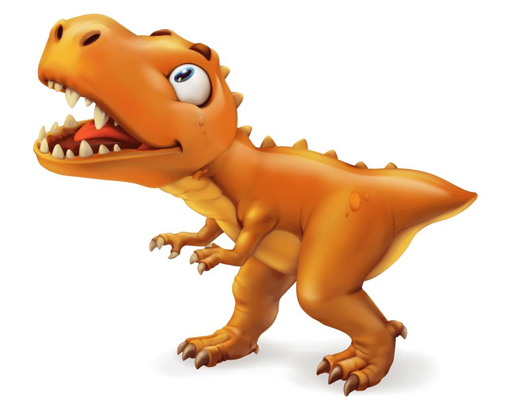 Cute T-Rex clipart png image