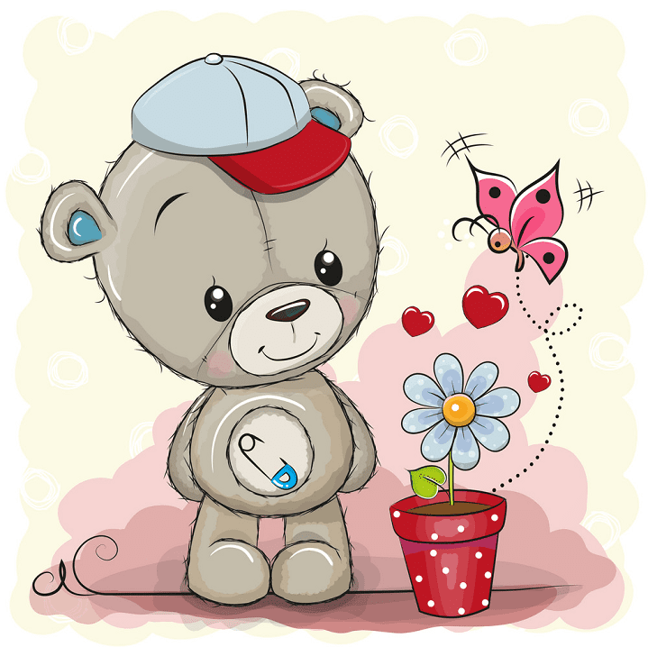 Cute Teddy Bear clipart free images