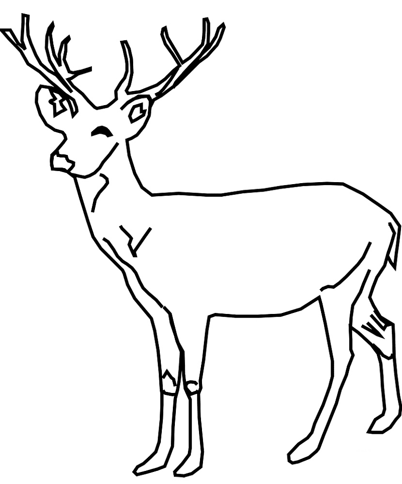 Deer Black and White clipart image