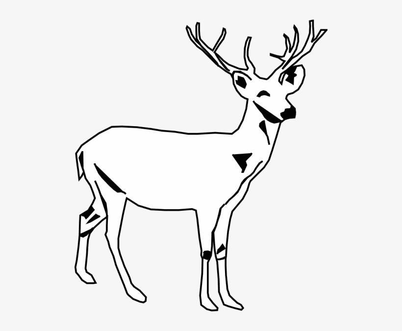 Deer Clipart Black and White png image