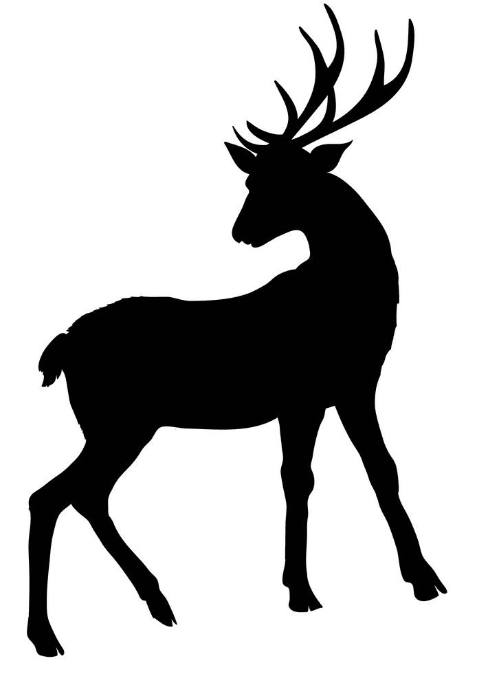 Deer Clipart Silhouette 1