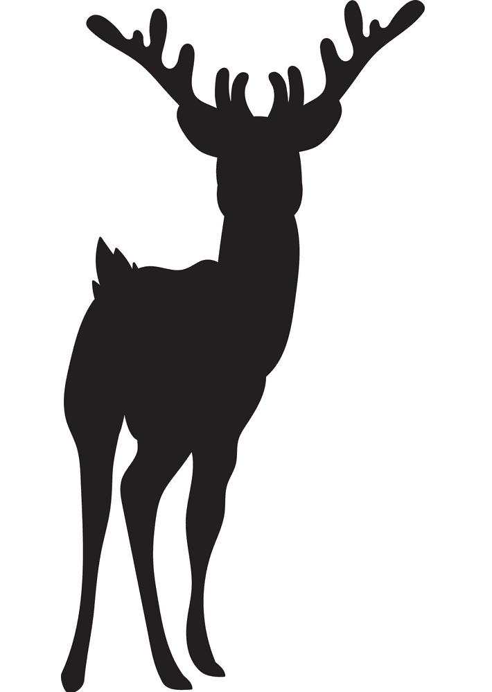 Deer Clipart Silhouette 2