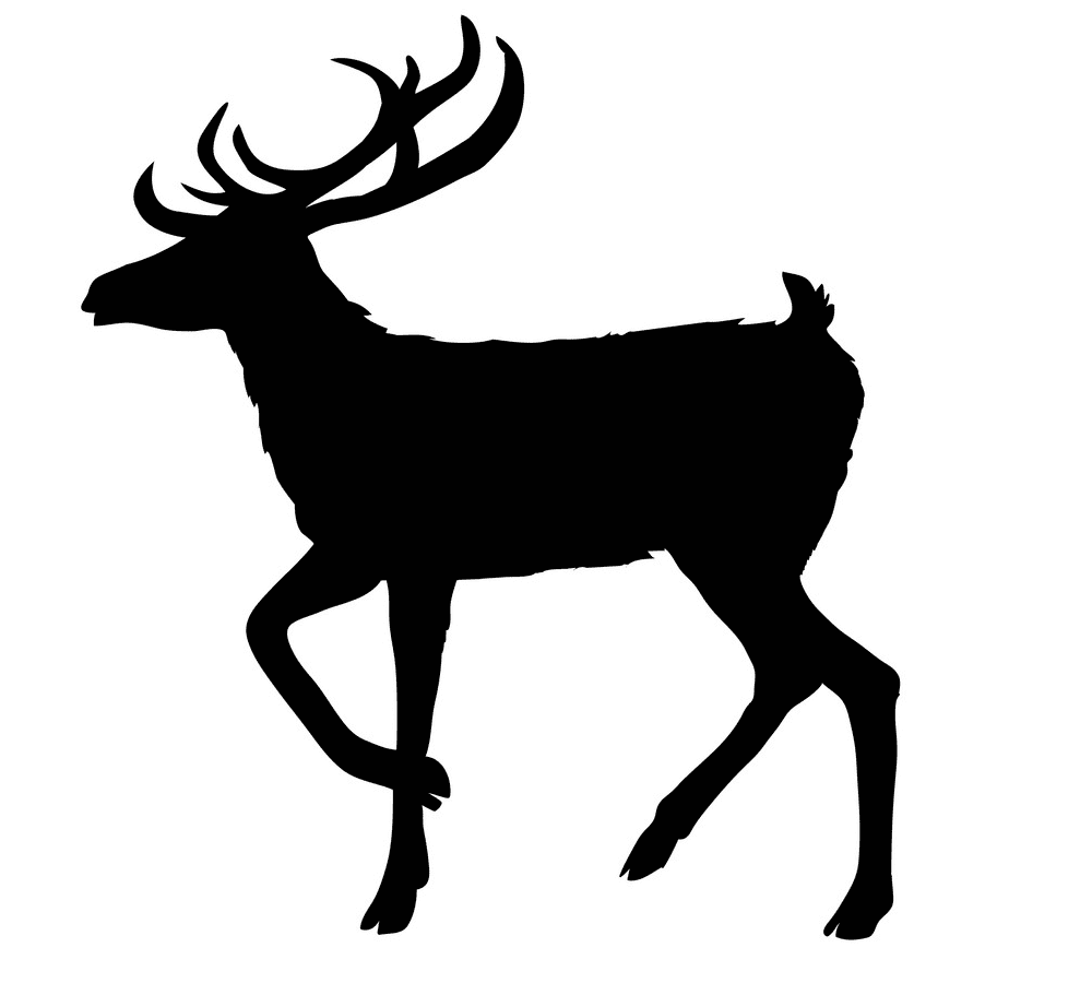 Deer Clipart Silhouette image
