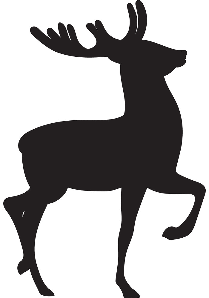 Deer Clipart Silhouette png image