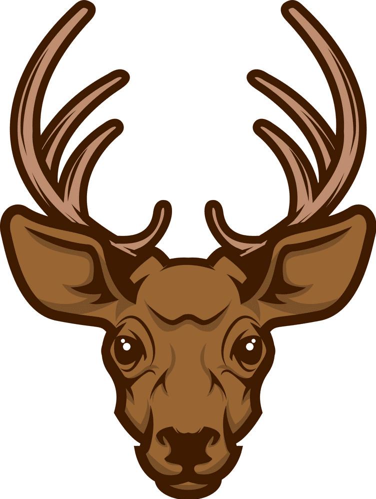 Deer Head clipart images