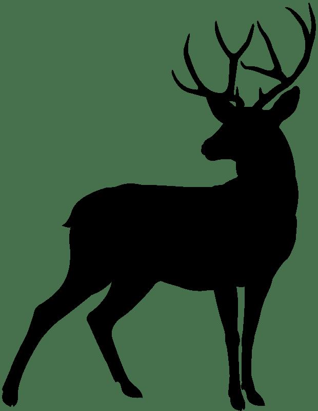 Deer Silhouette clipart free